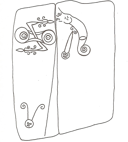 Allen and Anderson's survey of Pictish Symbols at Trusty's Hill