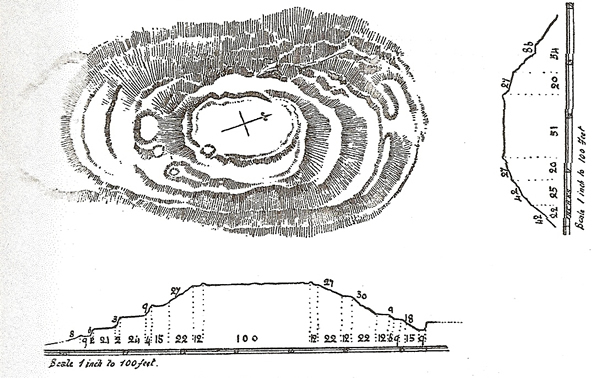 Coles' Plan of Trusty's Hill