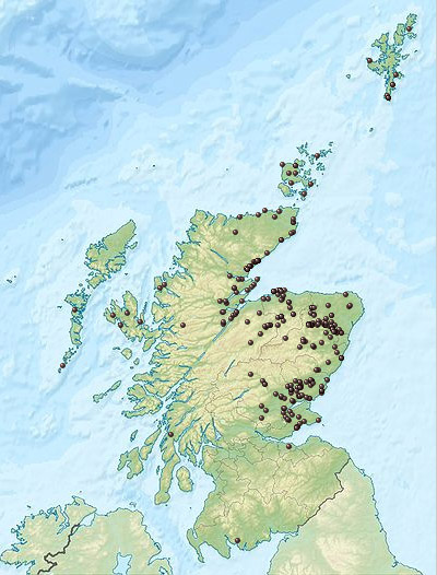 Pictish Stone distribution