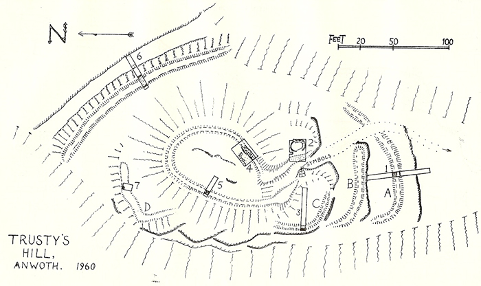 Charles Thomas's Plan of Trusty's Hill