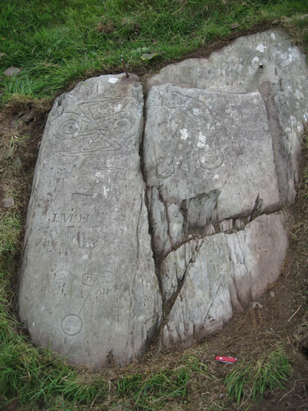 Pictish Inscribed Stone after cleaning.