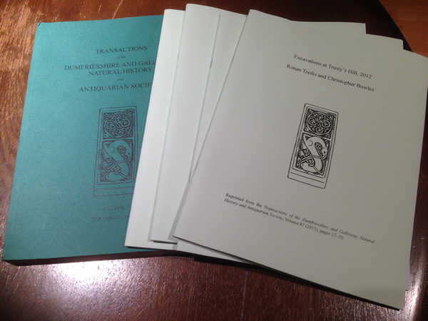Hard copies of Transactions of the Dumfriesshire and Galloway Natural History and Antiquarian Society (Volume 87, 2013)