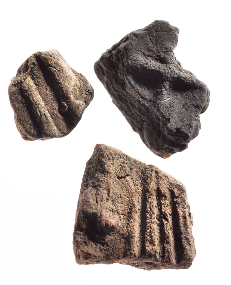 clay mould fragments from Trusty's Hill